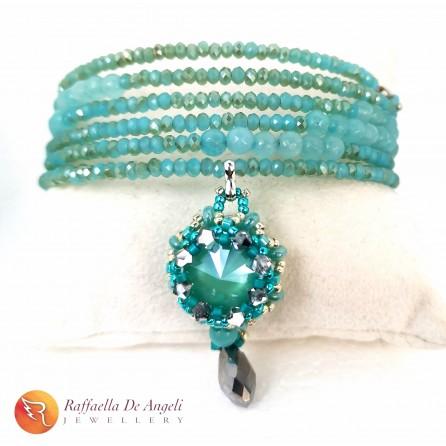 Bracelet Swarovski green harmonic spring 1