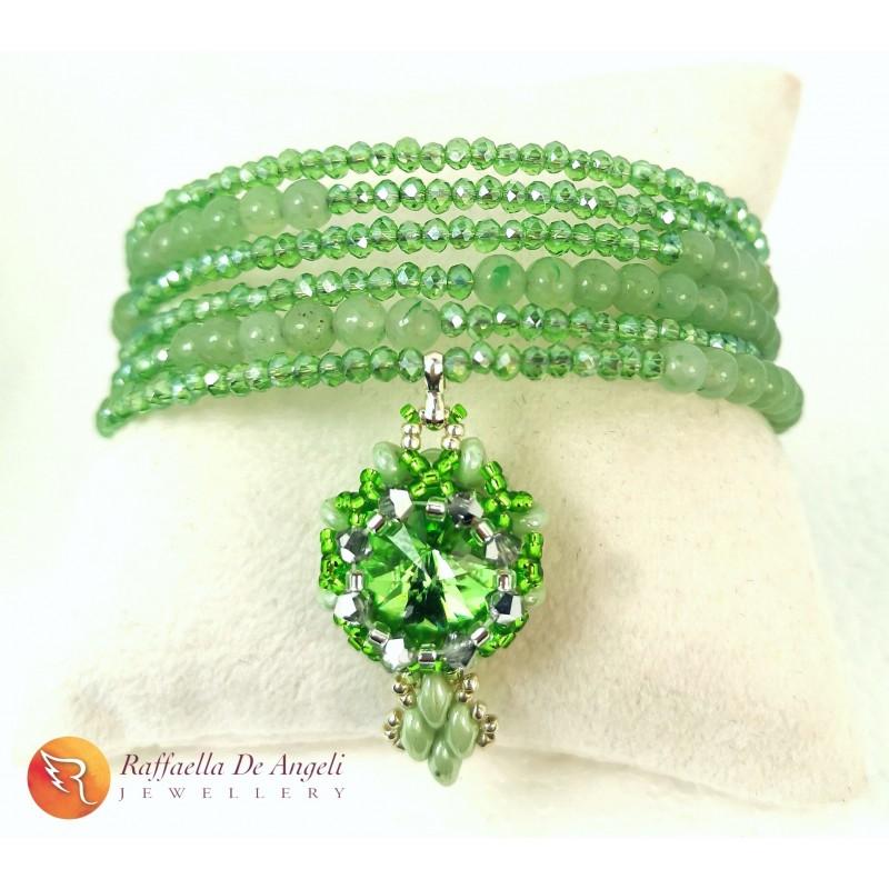 Bracelet Swarovski green harmonic spring 2
