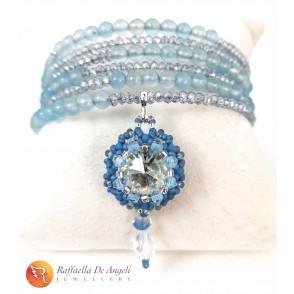 Bracelet Swarovski blue harmonic spring 3