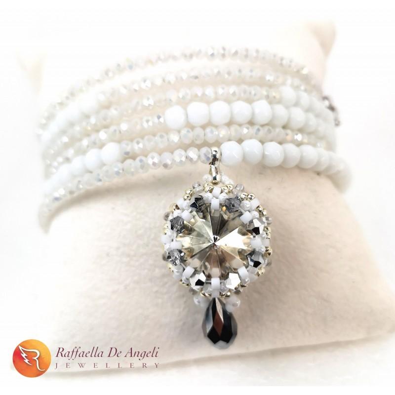 Bracelet Swarovski white harmonic spring 4
