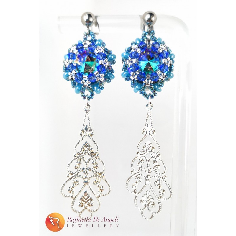 Earrings blue Swarovski n. 2