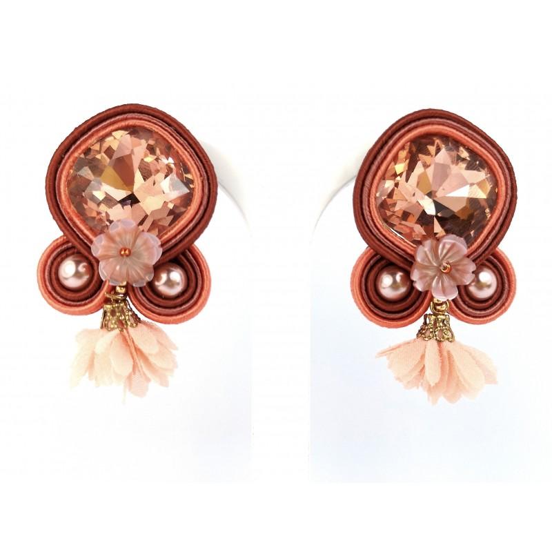 Earrings Soutache pink 02