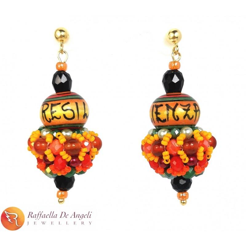 Earrings Deruta orange 16