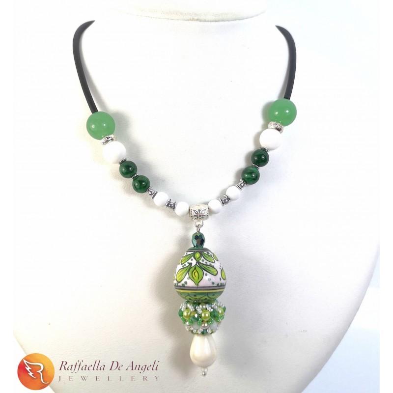 Necklace Deruta 17 green