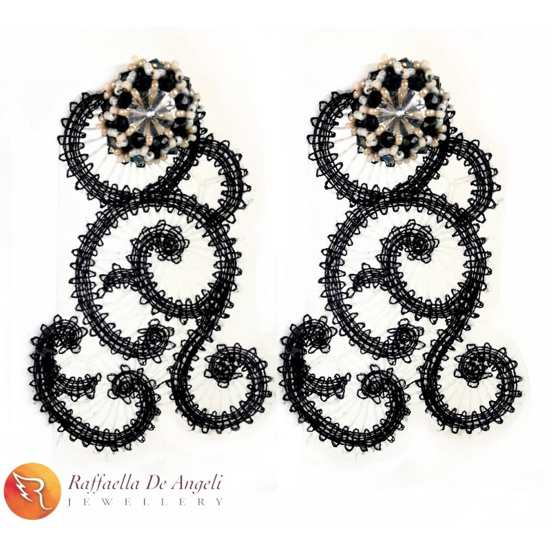 Earrings Pizzo Black 03