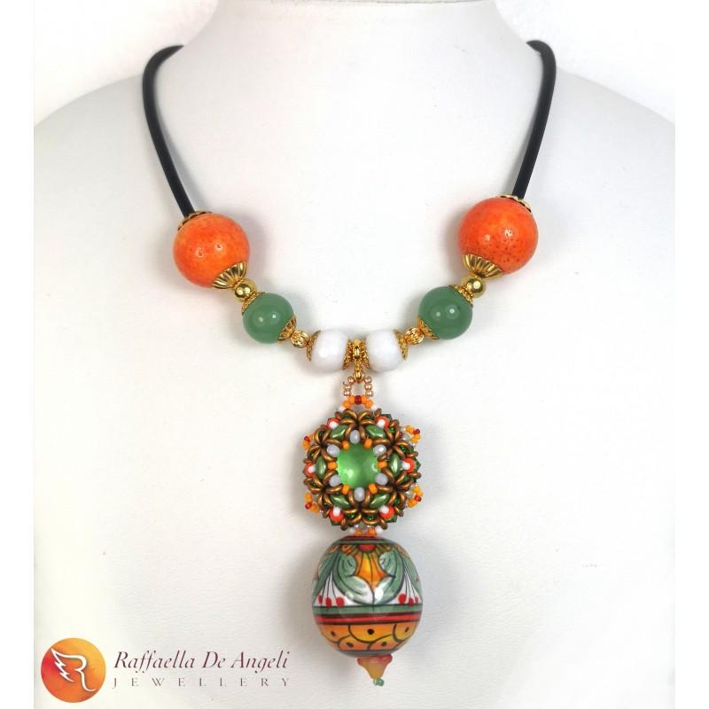 Necklace Deruta green 18