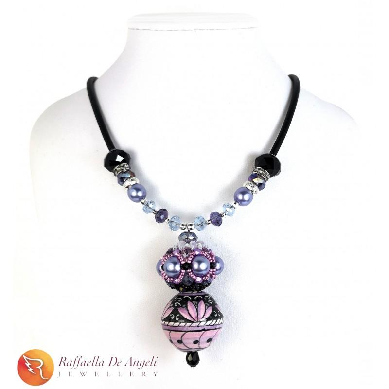 Necklace Deruta 21 purple