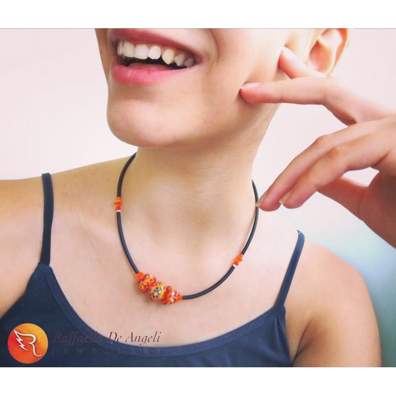 Necklace Deruta 23 Orange