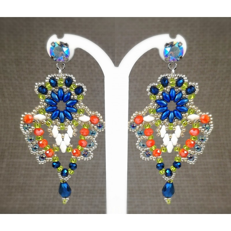 Earrings chandelier 03