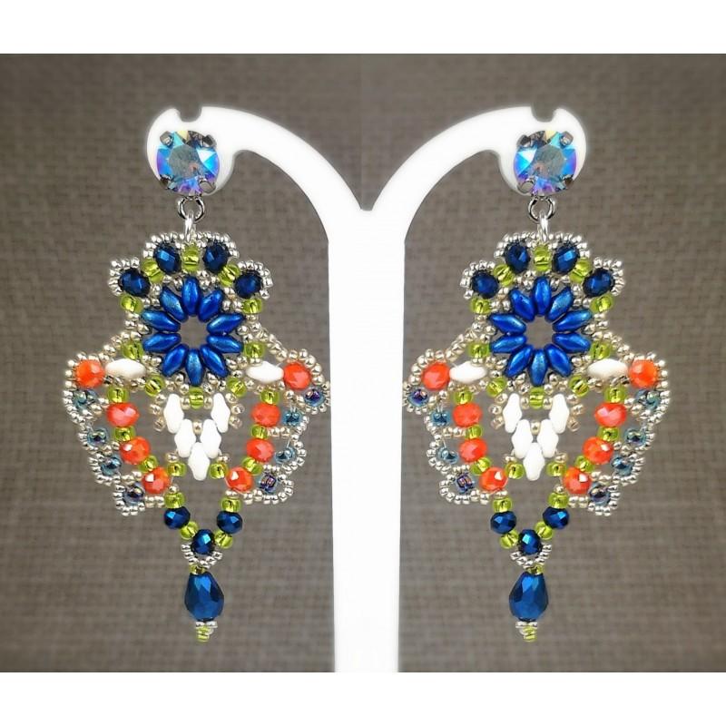 Earrings chandelier 03