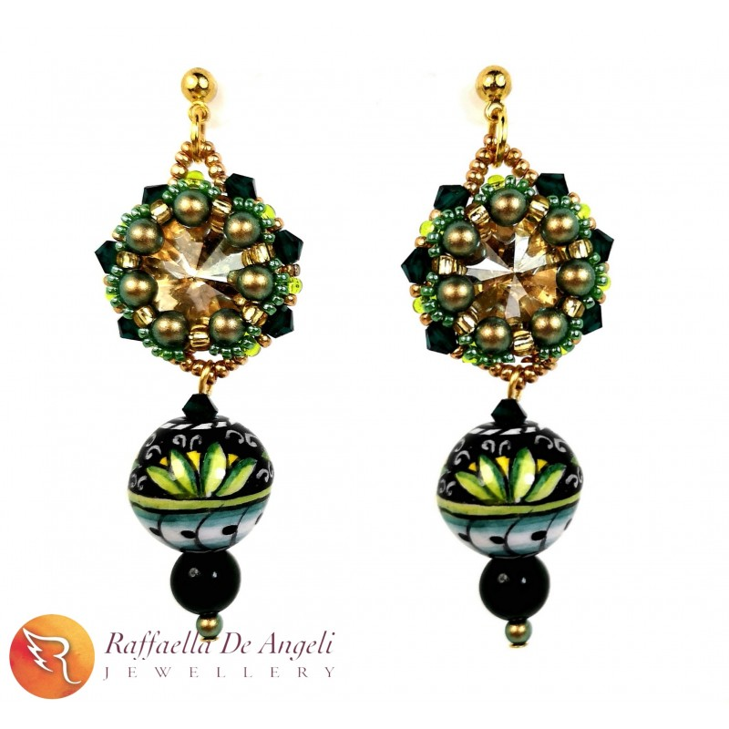 Earrings Deruta 26 green