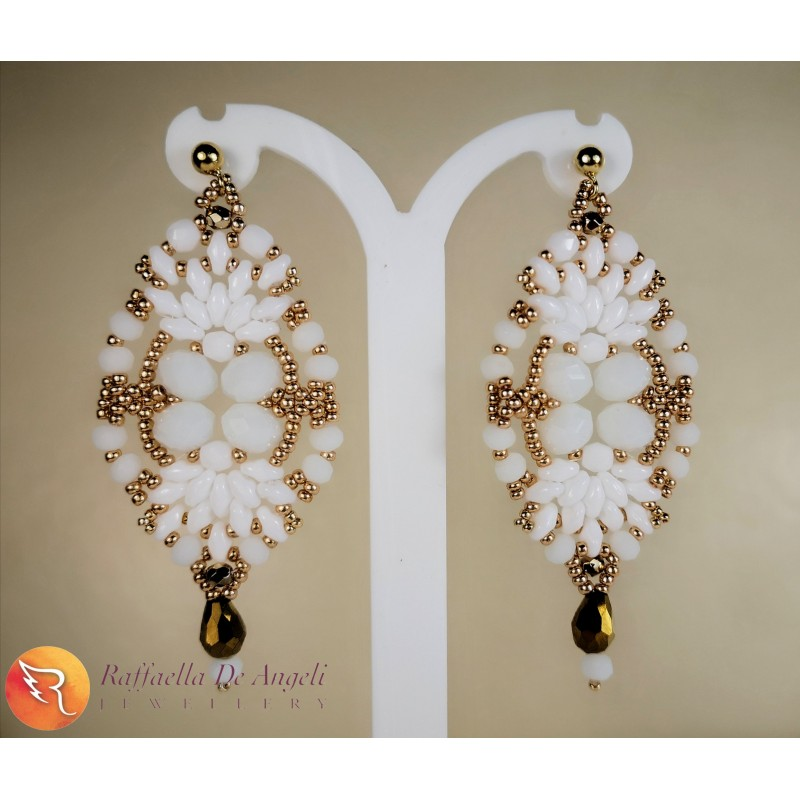 Earrings Scilla 01 white