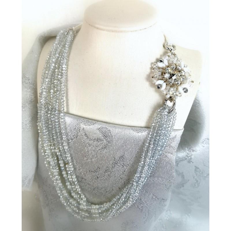 Necklace Swarovski bride 01
