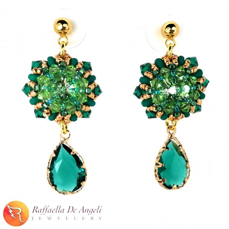 Earrings Swarovski green 04