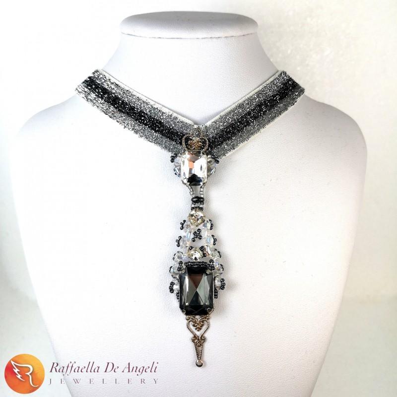 Necklace crystal Eleonora
