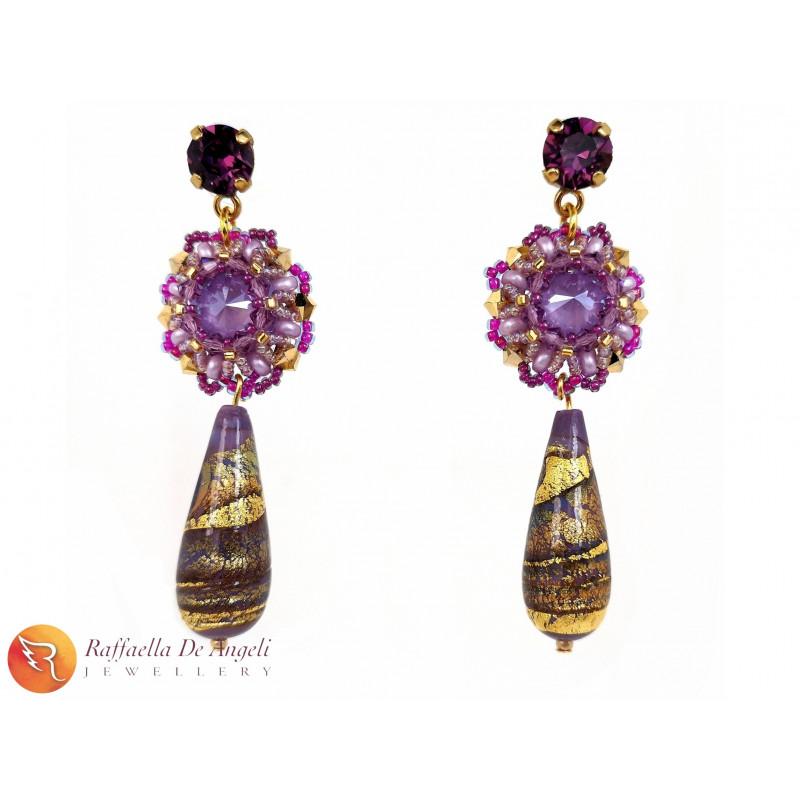 Earrings purple Sveva 07