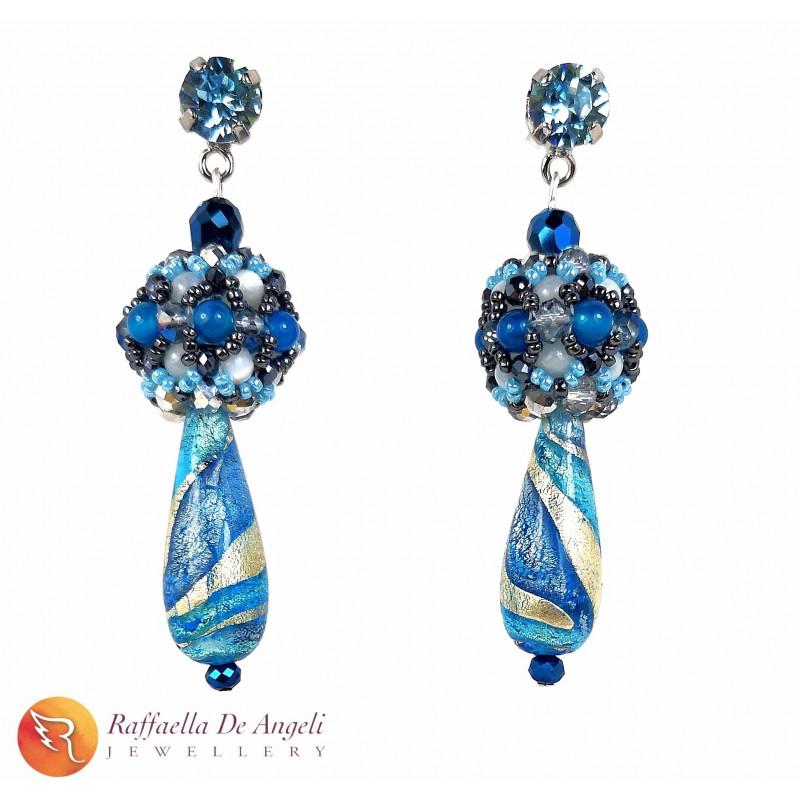 Earrings blue Sveva 06