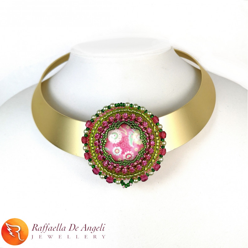 Necklace embroidery peyote...