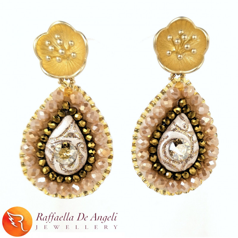 Earrings Yellow Gold Prisca 04