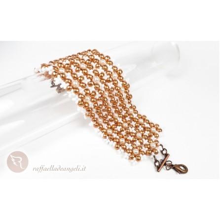 Bracelet rocailles crystal Petra 01