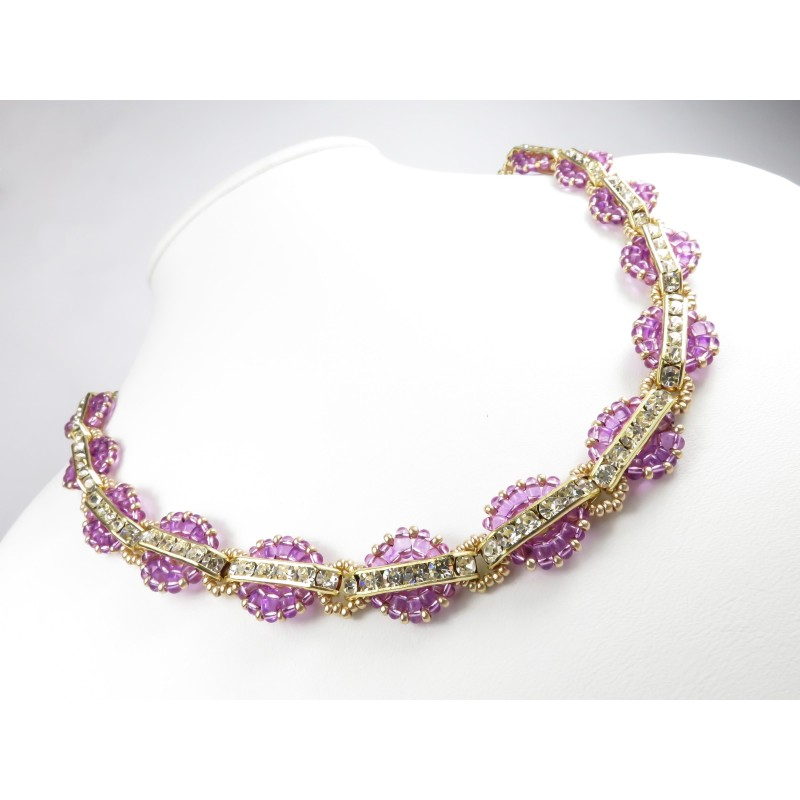 Necklace Katia 02 bridge strass twin