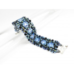 Bracelet superduo crystals Francesca 02