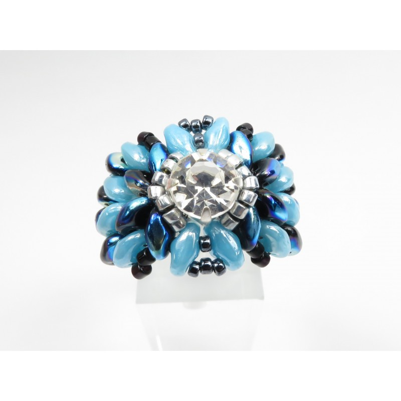 Ring crystal superduo Elena 05