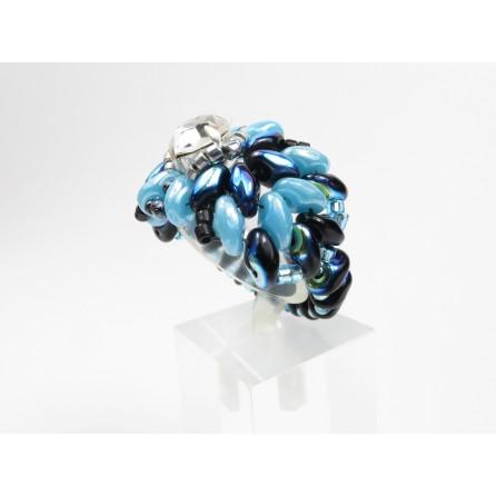 Anello cristallo superduo Elena 05