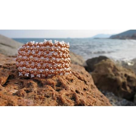 Bracciale rocailles e cristalli Petra 01