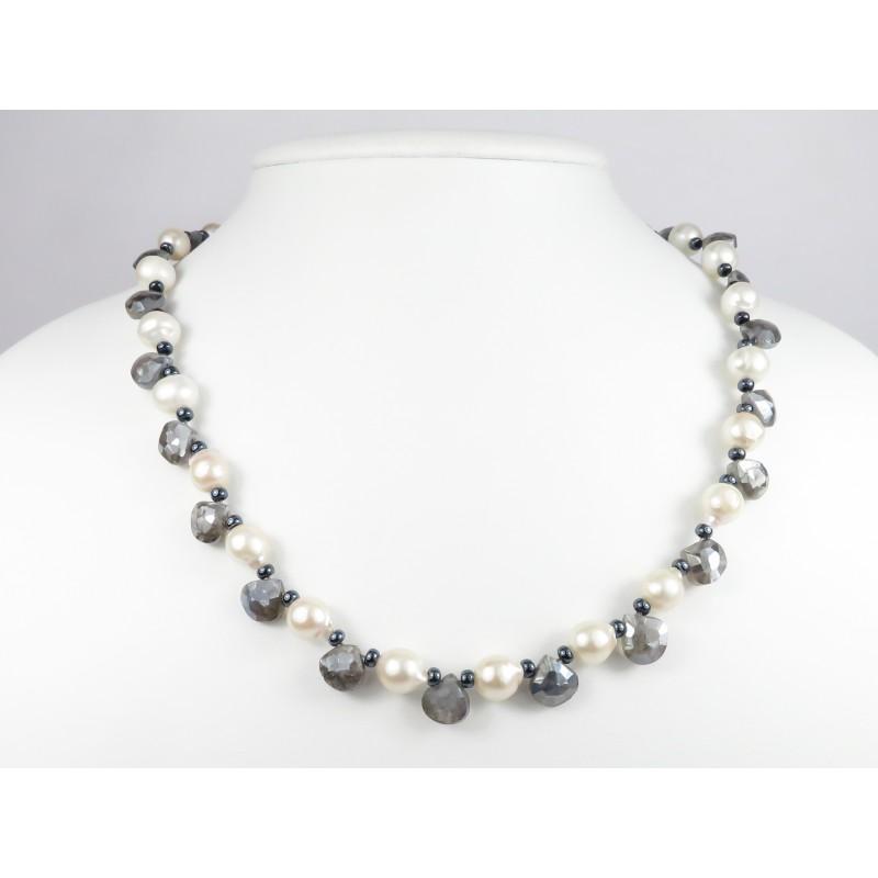 Collana Chiara perle e labradorite 01
