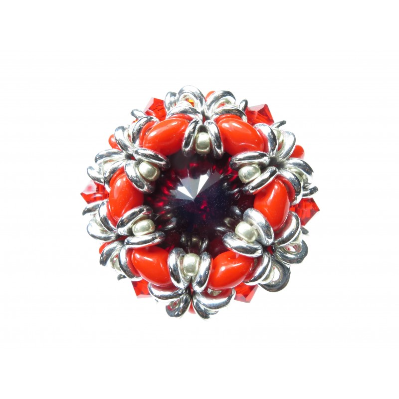 Ring crystal superduo Dalia 03