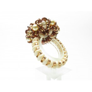 Ring crystal superduo Dalia 05