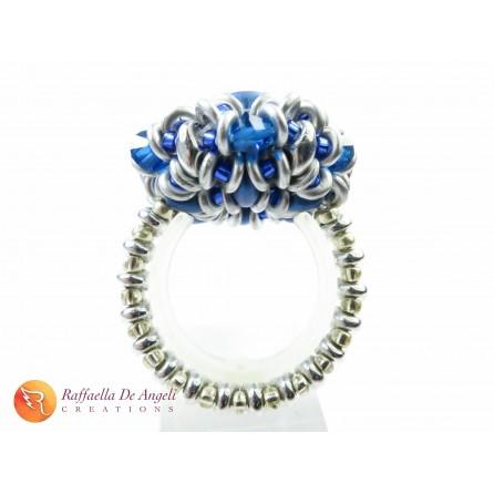 Ring crystal superduo Dalia 07