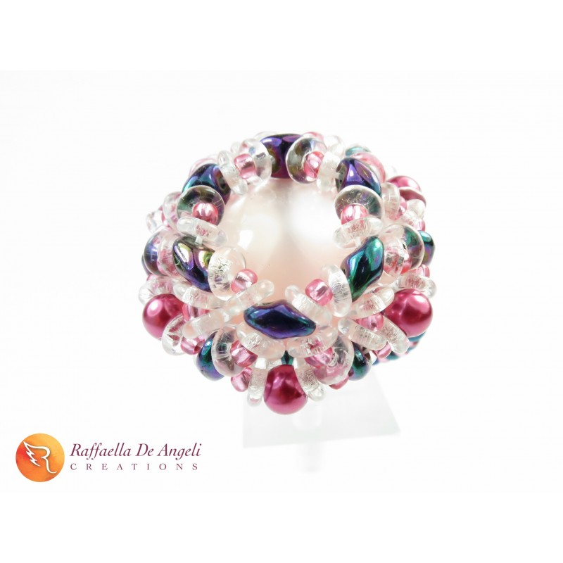 Ring crystal superduo Dalia 08