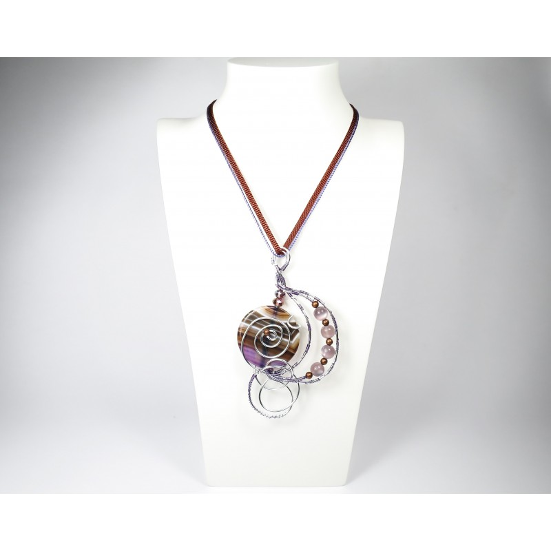 Necklace purple agate Lucia 02