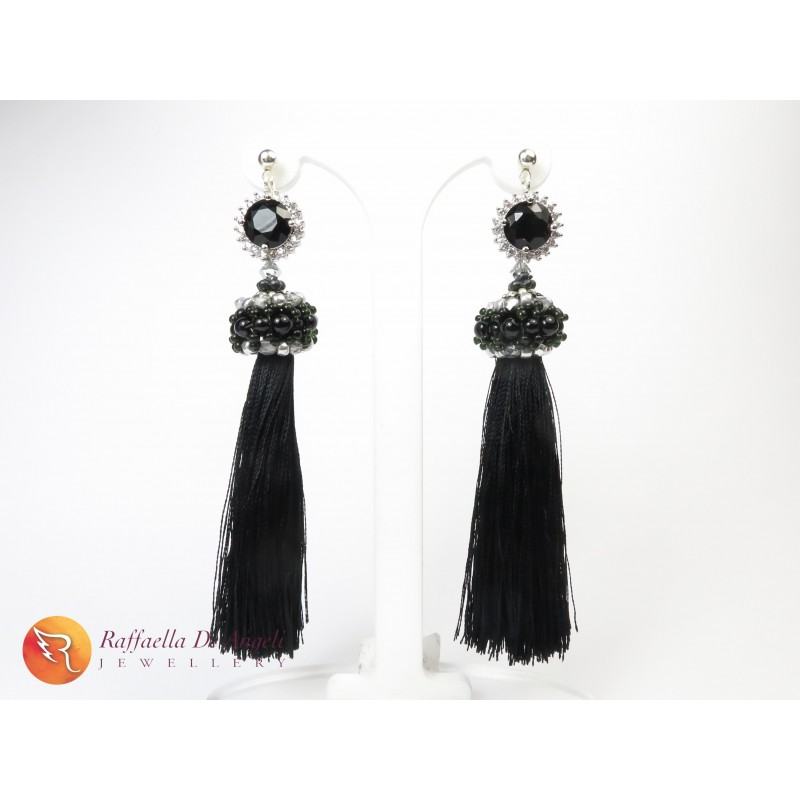 Earrings tassels crystal Adele 01