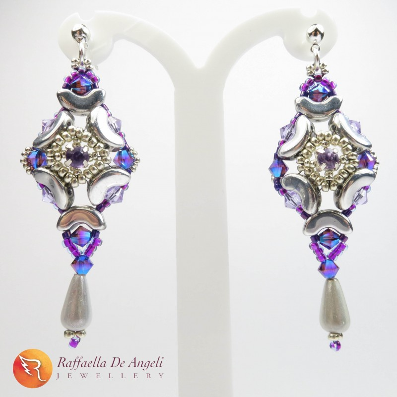Earrings purple Swarovski Giorgiana