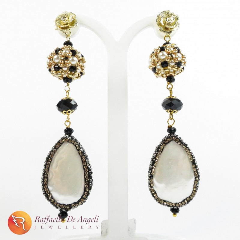 Earrings pearl nacre 01