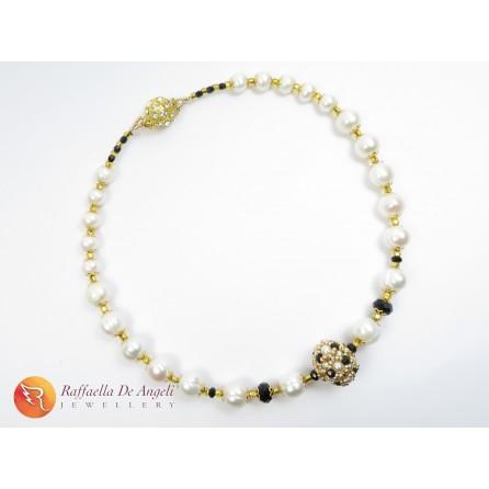 Collana perle murano oro Chiara 03